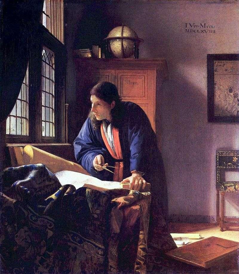 Geographer by Jan Vermeer