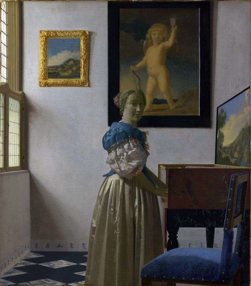 The lady of the virginal by Jan Vermeer