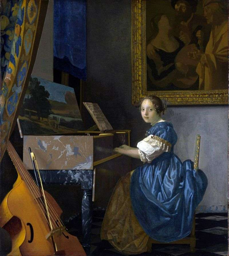The lady at the back by Jan Vermeer