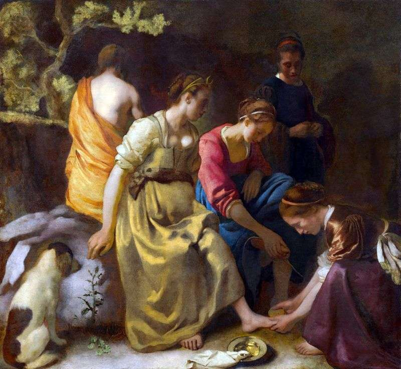 Diana and the nymphs by Jan Vermeer