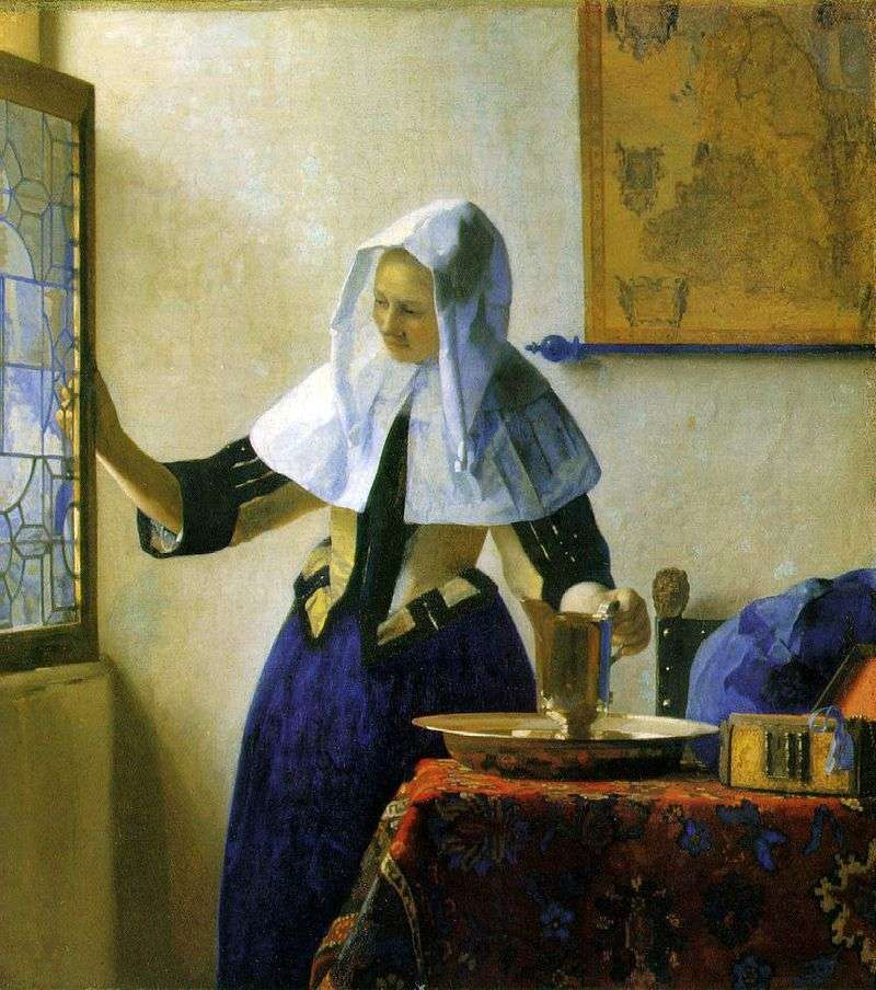 Young woman with a water jug   Jan Vermeer