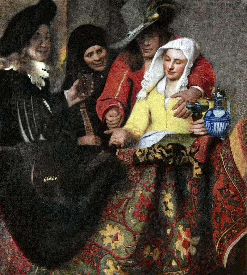 In the vault by Jan Vermeer