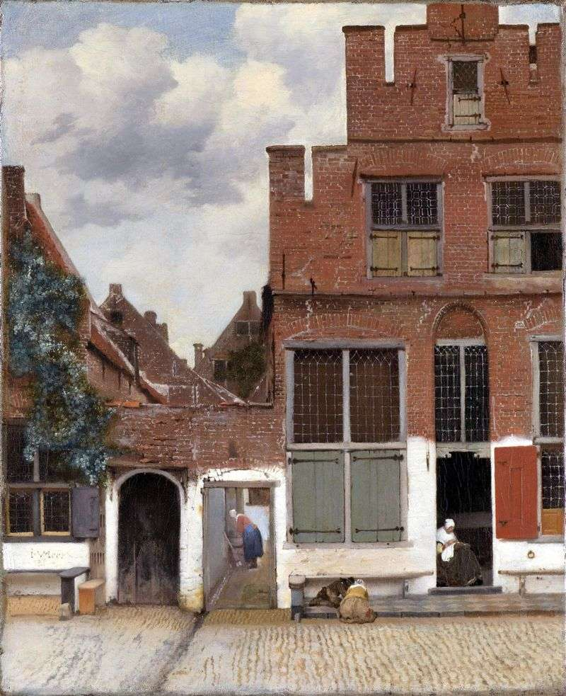 The street of Delft by Jan Vermeer