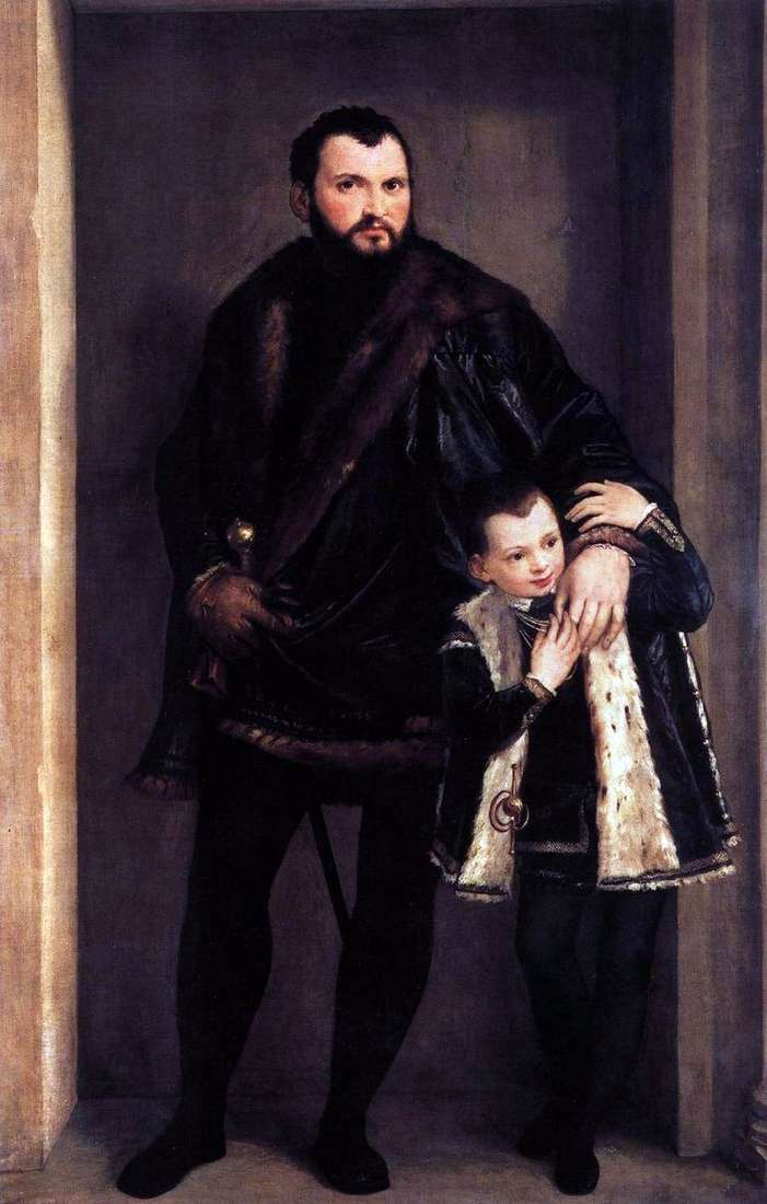 Count de Porto with his son Adriano by Paolo Veronese