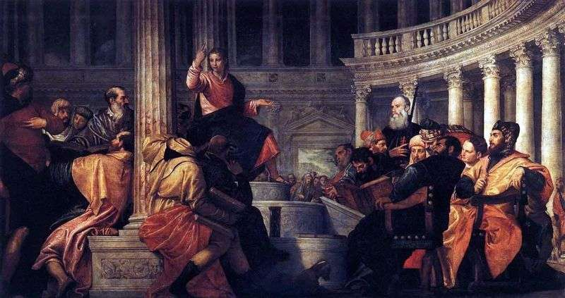 Jesus among the scribes by Paolo Veronese