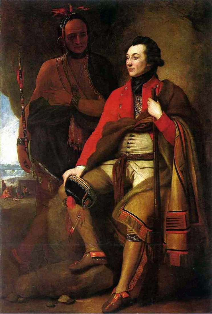 Portrait of Colonel Guy Johnson by Benjamin West