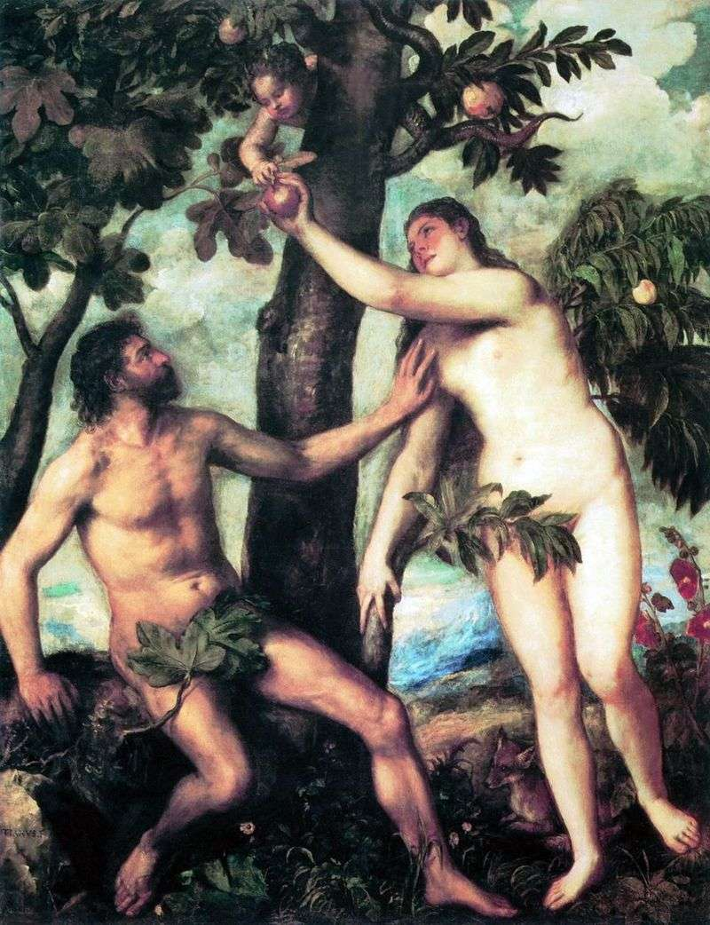 Adam and Eve by Titian Vecellio