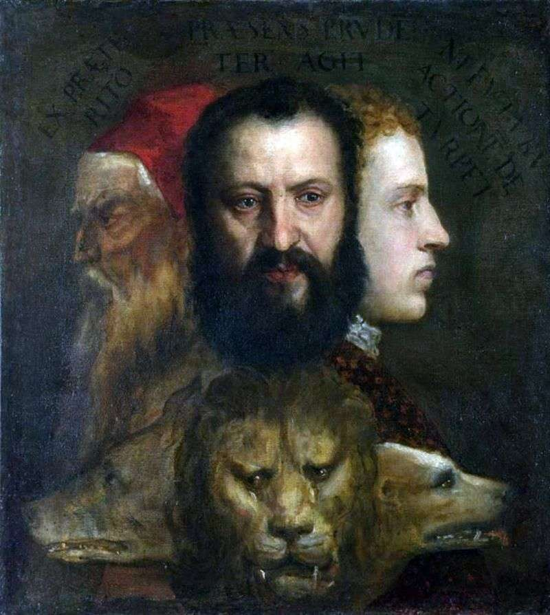 Allegory of prudence by Titian Vecellio