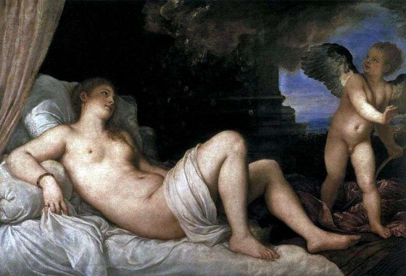Danae by Titian Vecellio