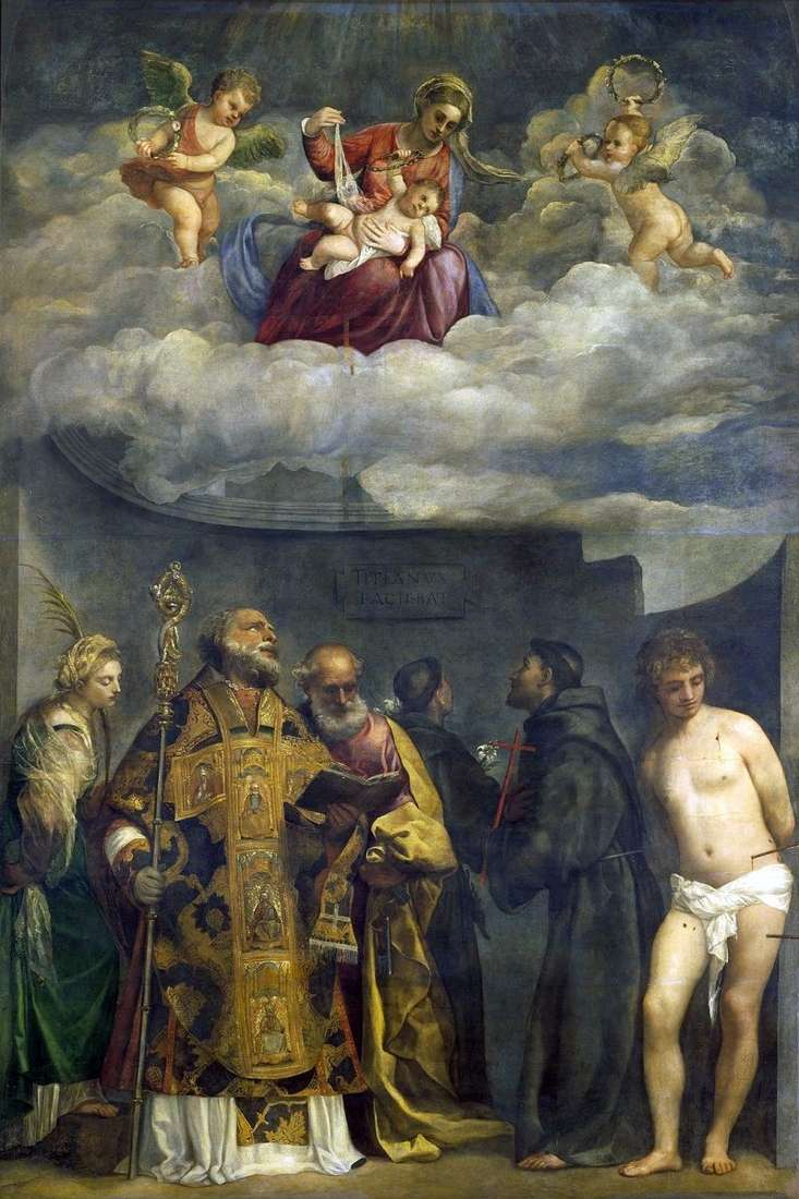 Madonna and Child and Saints by Titian Vecellio