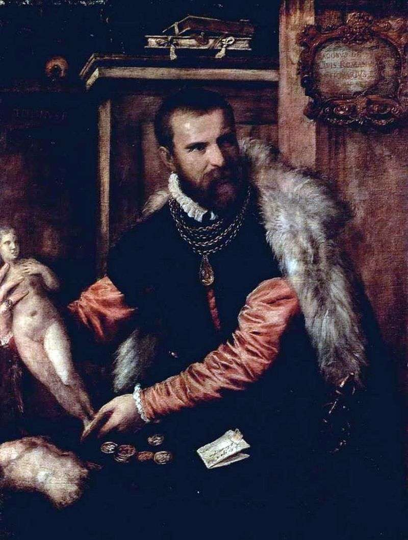 Portrait of the antiquarian Jacopo Strada by Titian Vecellio