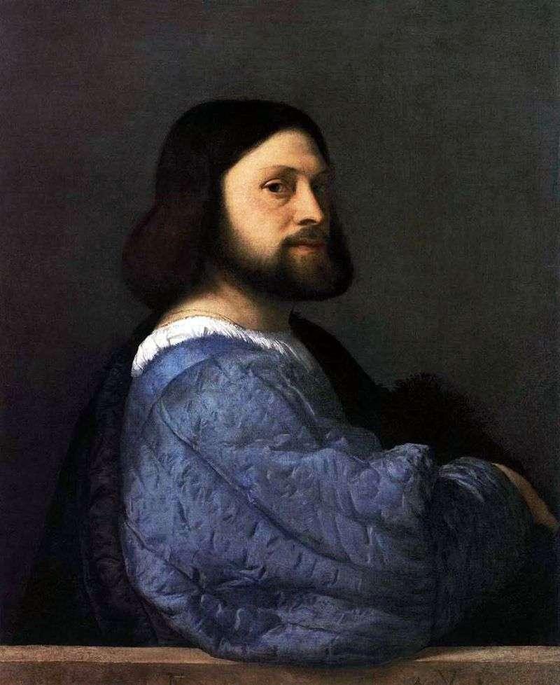 Male portrait (Ariosto) by Titian Vecellio