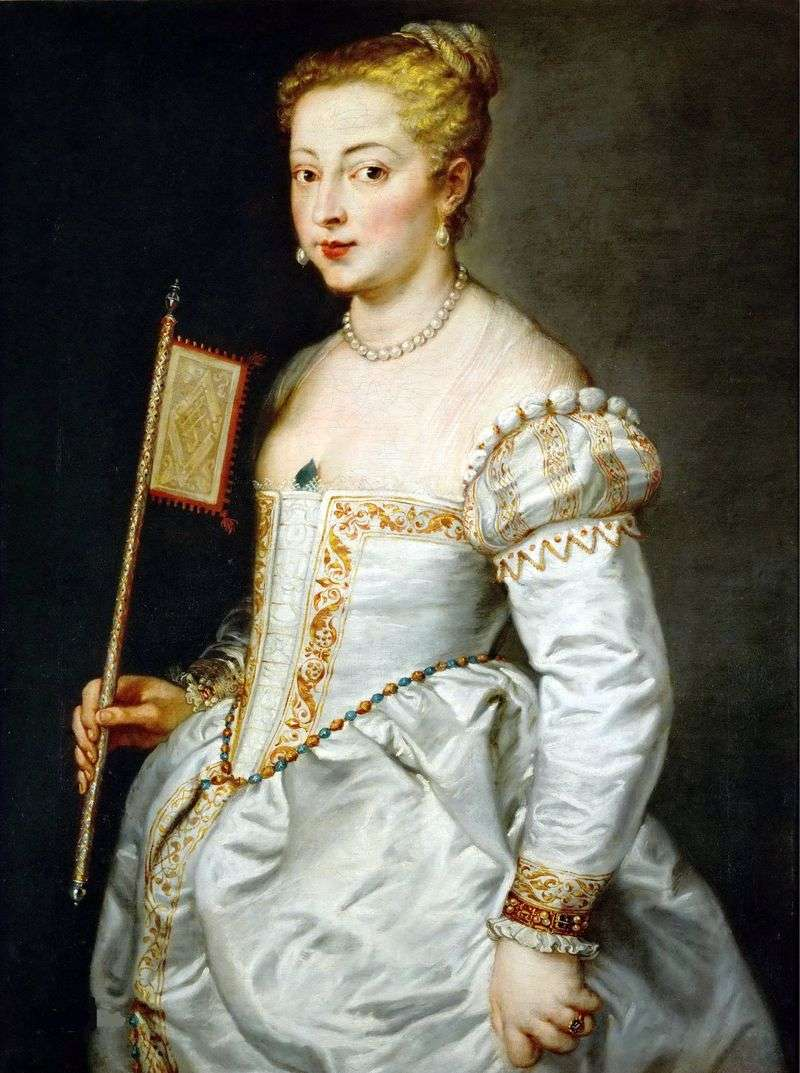 Portrait of a Lady in a White Dress by Titian Vecellio
