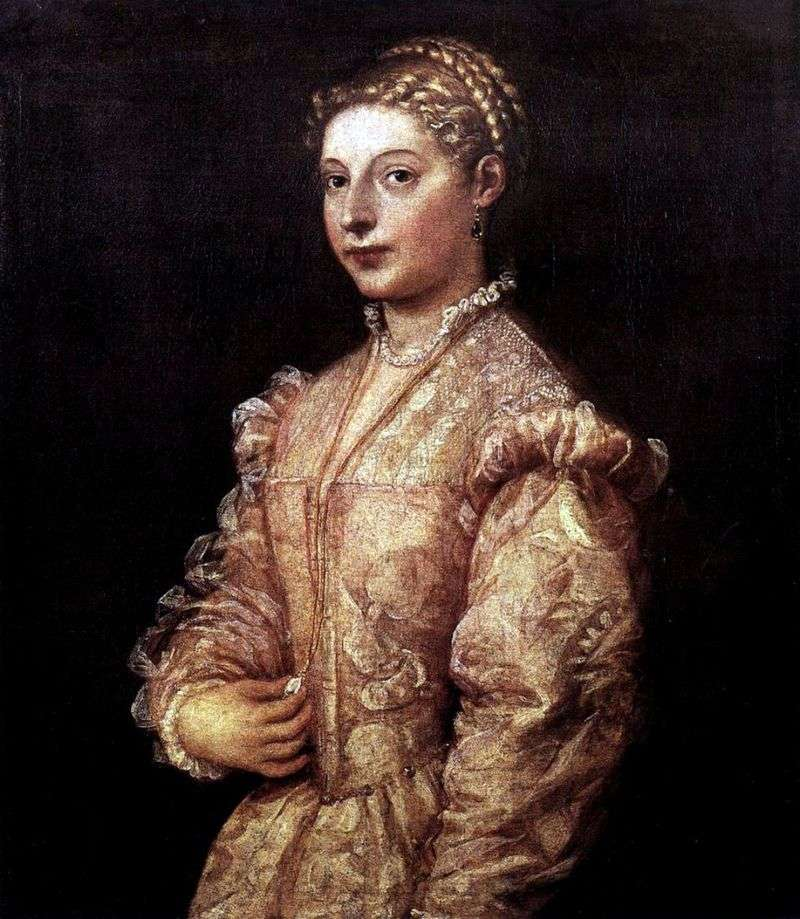 Portrait of a Girl by Titian Vecellio