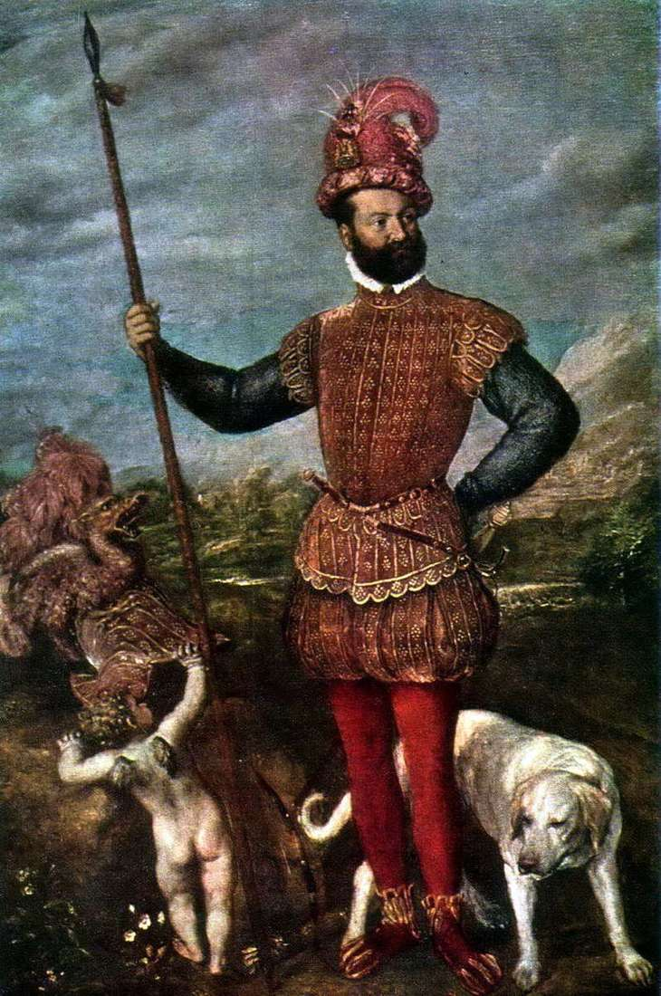 Portrait of Giovanni Francesco Aquaviva, Duke Atri by Titian Vecellio