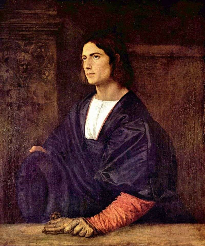 Portrait of a young man by Titian Vecellio
