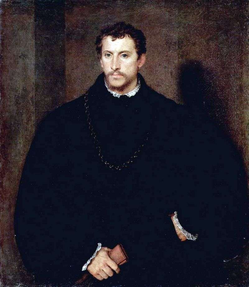 Portrait of a young man (Portrait of Ippolito Riminaldi) by Titian Vecellio