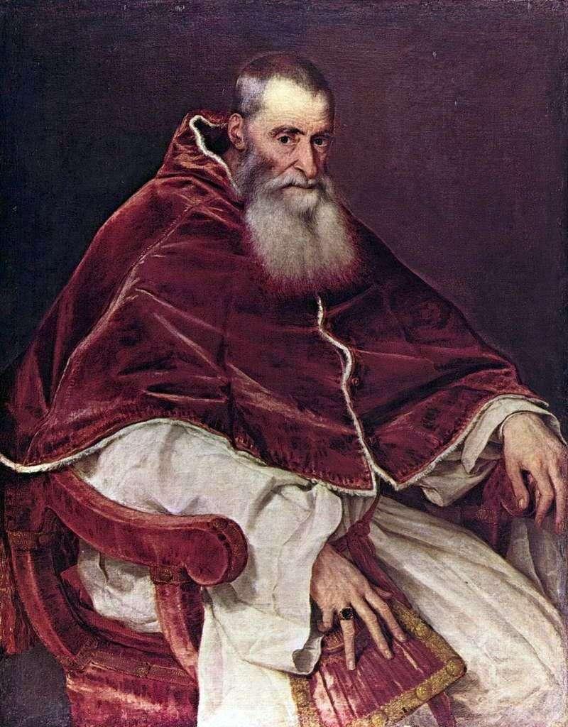 Portrait of Paul III by Titian Vecellio