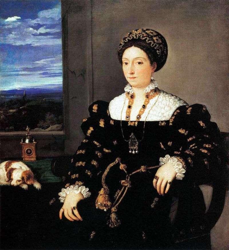 Portrait of the Urbinian Duchess Eleonora Gonzaga by Titian Vecellio