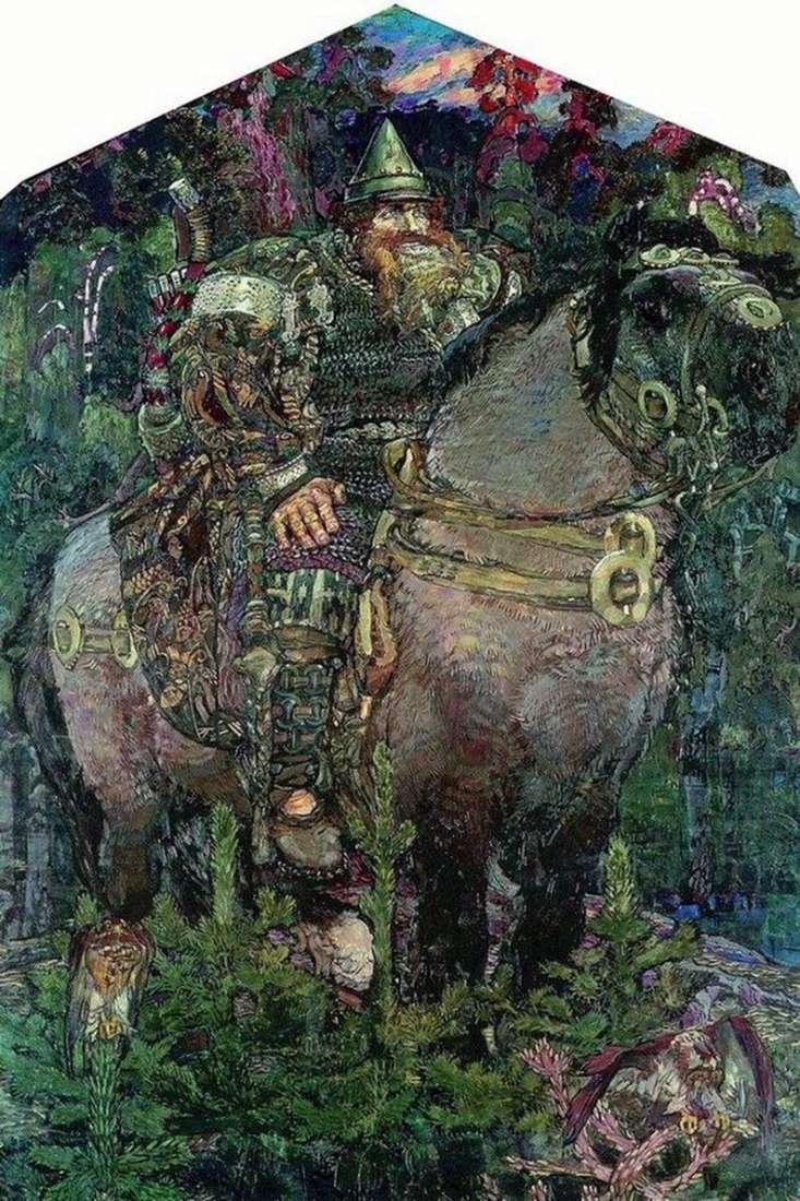 Bogatyr by Mikhail Vrubel