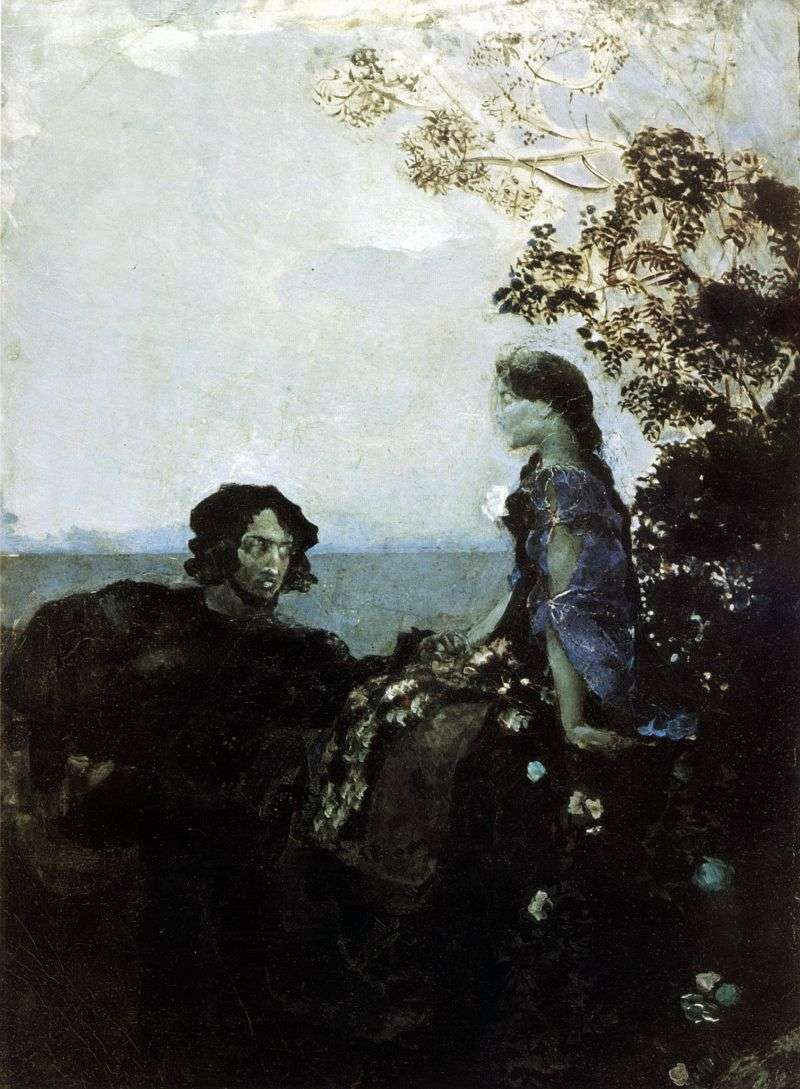 Hamlet and Ophelia by Michael Vrubel