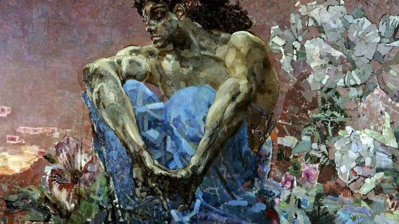 Demon seated by Mikhail Vrubel