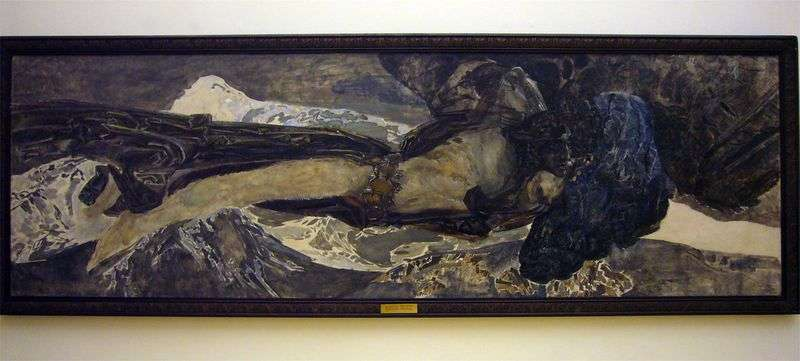 Flying demon by Mikhail Vrubel