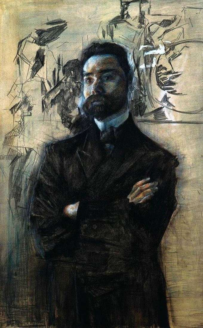 Portrait of V. Ya. Bryusov by Mikhail Vrubel
