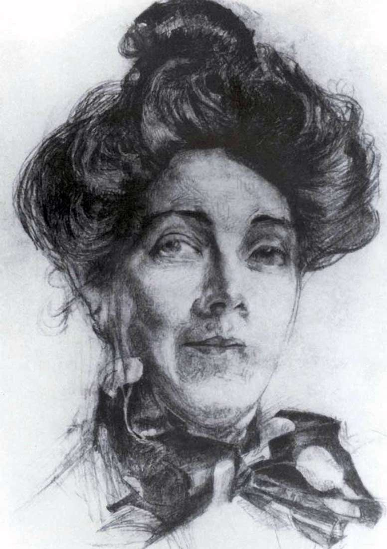 Portrait of NI Zabela by Mikhail Vrubel