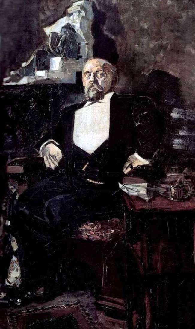 Portrait of Savva Mamontov by Mikhail Vrubel