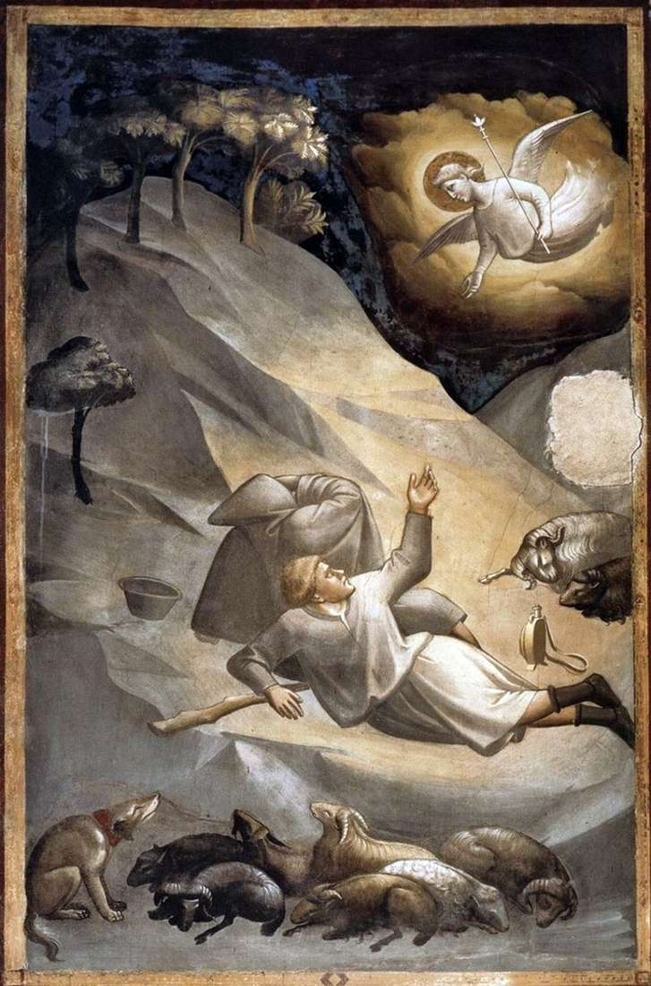 Evangelism to the shepherds by Taddeo Gaddi