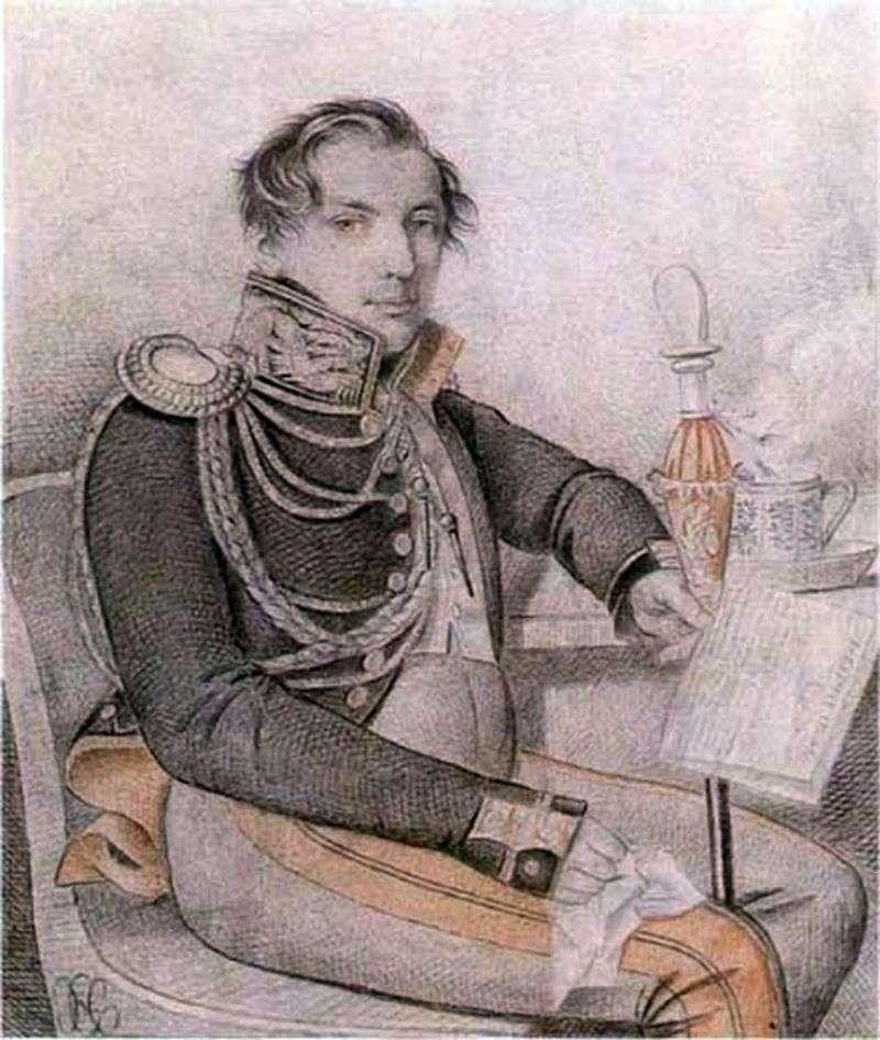 Portrait of Konovnitsyn Petr Petrovich by Karl Gampeln