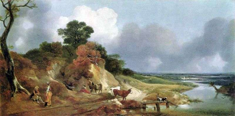 View near the village of Kornard by Thomas Gainsborough