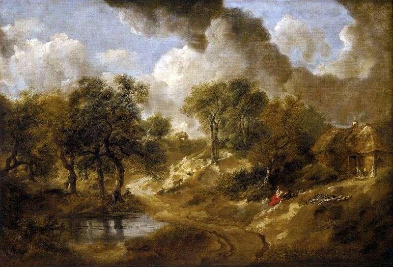 Landscape in Suffolk by Thomas Gainsborough