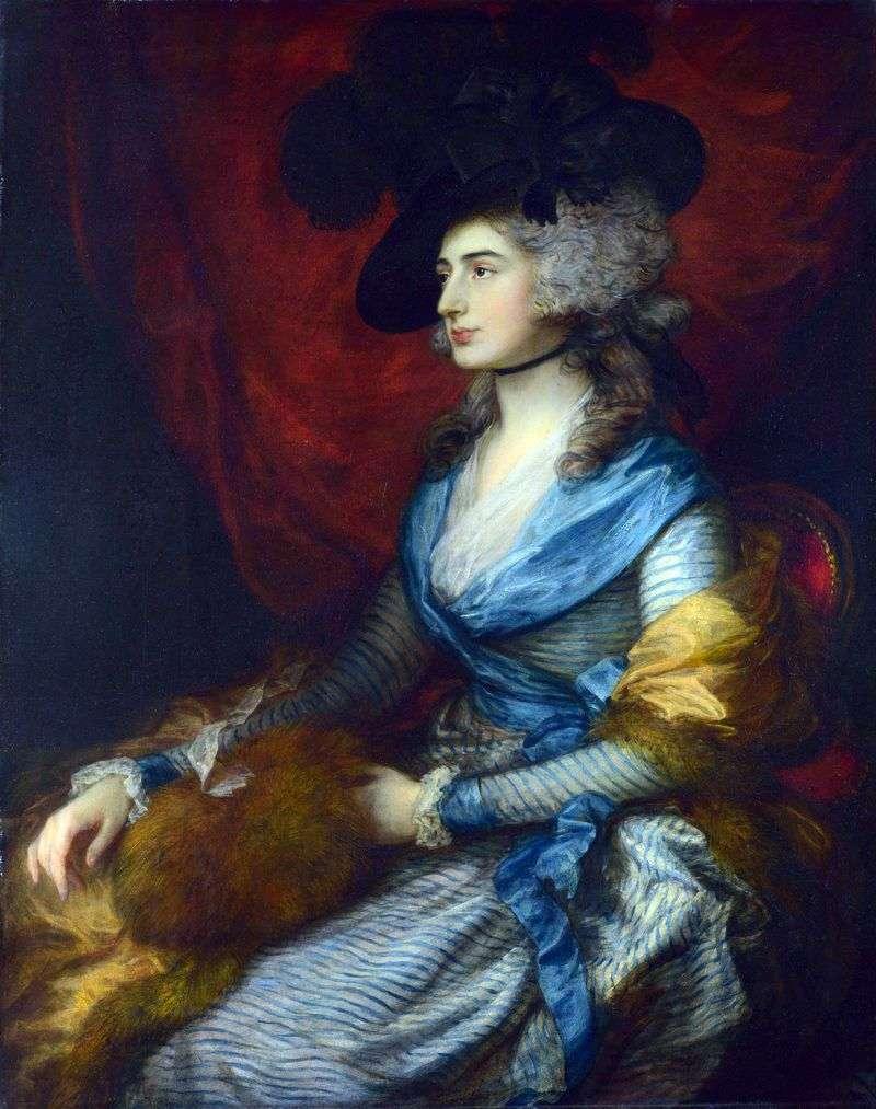 Portrait of actress Sarah Siddons by Thomas Gainsborough