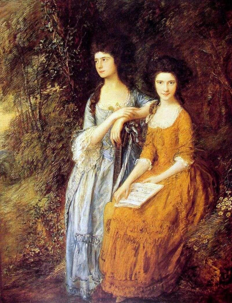 Portrait of Elizabeth and Mary Lynley by Thomas Gainsborough