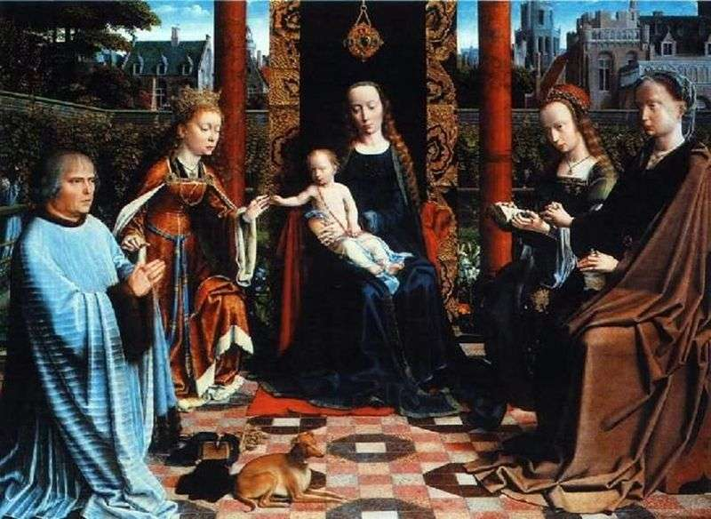 Madonna with Child, Saints and Donator by David Gerard