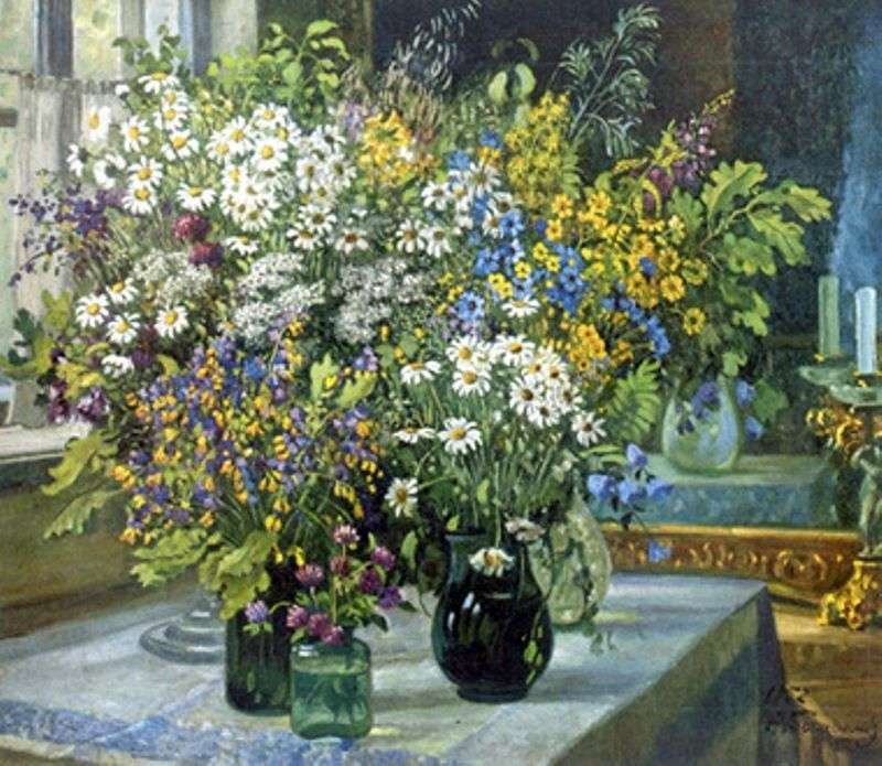 Still life. Wildflowers by Alexander Gerasimov