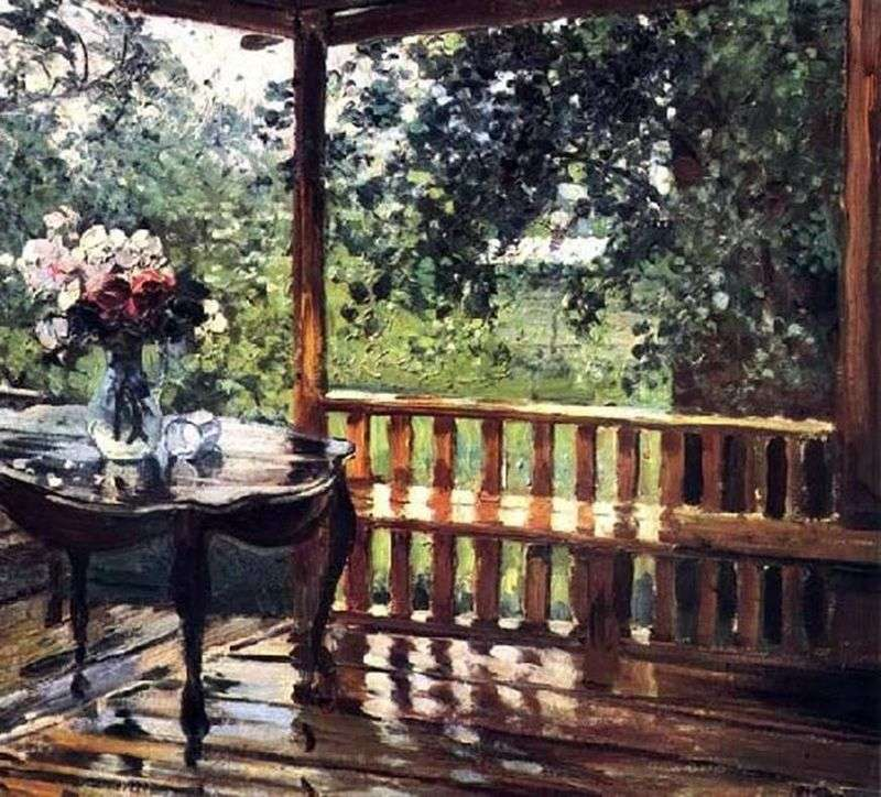 After the rain (Wet Terrace) by Alexander Gerasimov