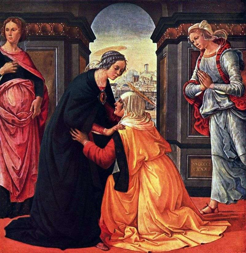 Meeting of Mary and Elizabeth by Domenico Ghirlandaio