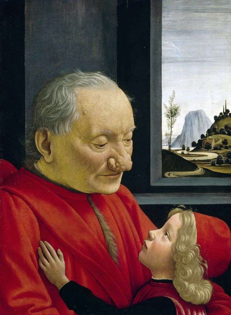 Portrait of an old man with his grandson by Domenico Ghirlandaio