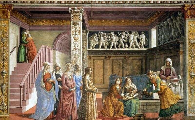 Birth of Mary by Domenico Ghirlandaio
