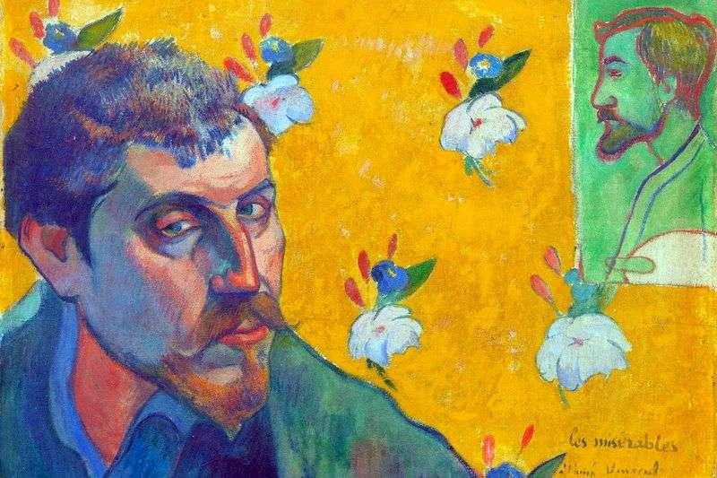Self portrait Les Miserables (rejected) by Paul Gauguin