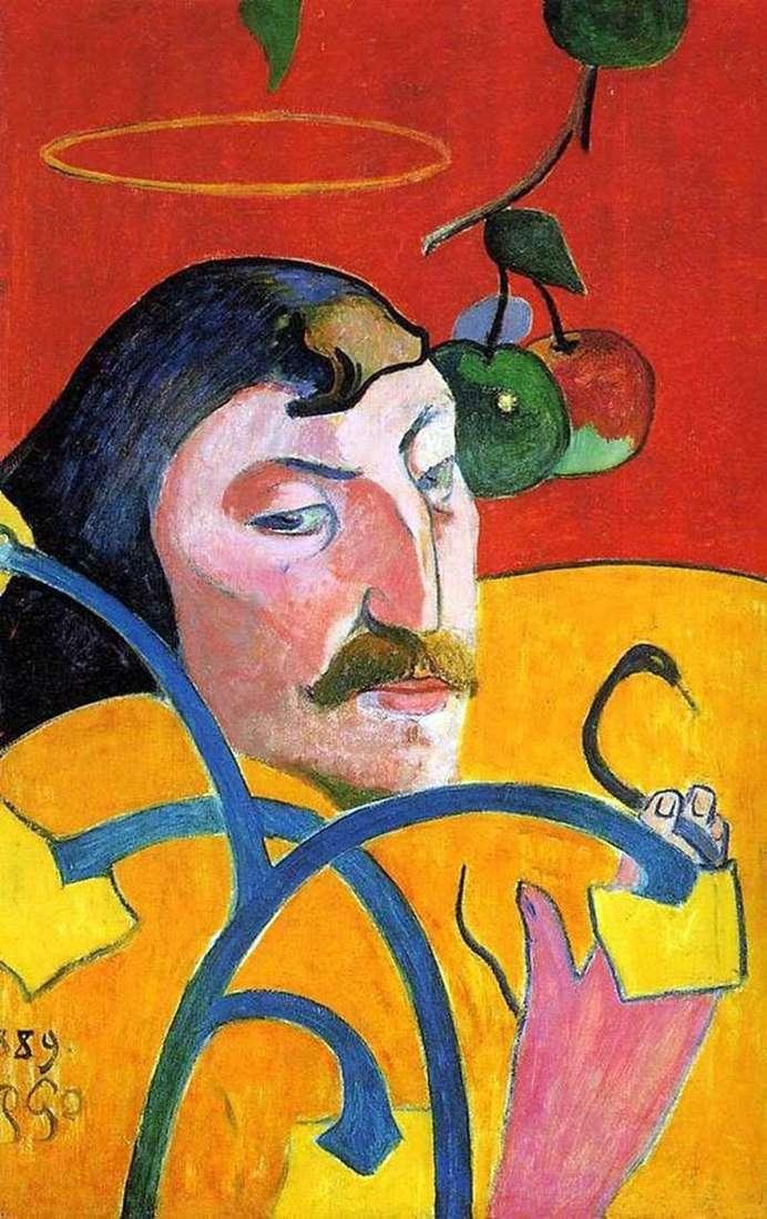Self Portrait with a Nimbus (Self Portrait Grotesque) by Paul Gauguin