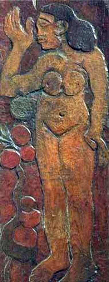 Wooden sculpture by Paul Gauguin