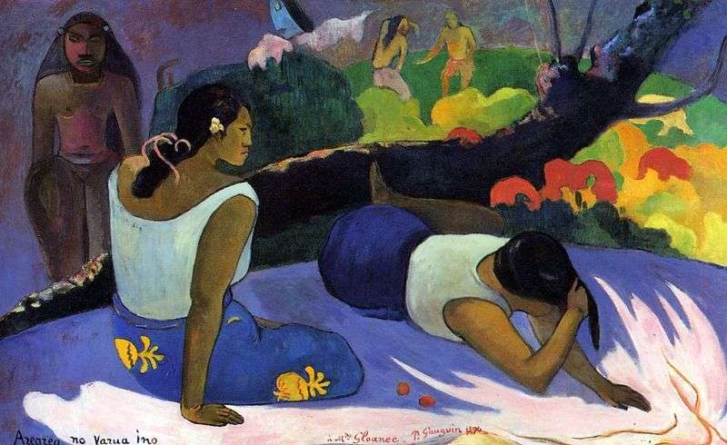 Fun of the evil spirit by Paul Gauguin