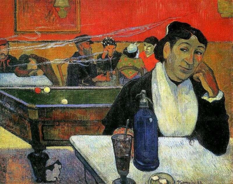 Night cafe, Arles (Night cafe in Arles) by Paul Gauguin
