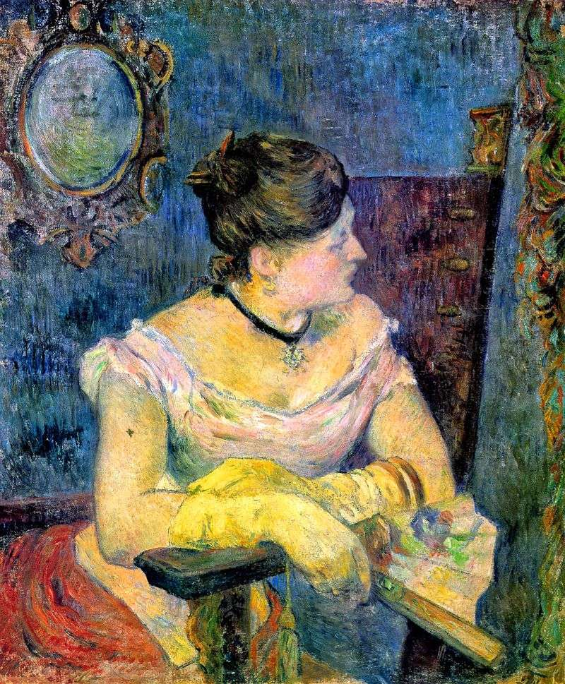 Portrait of Madame Gauguin in an Evening Dress by Paul Gauguin
