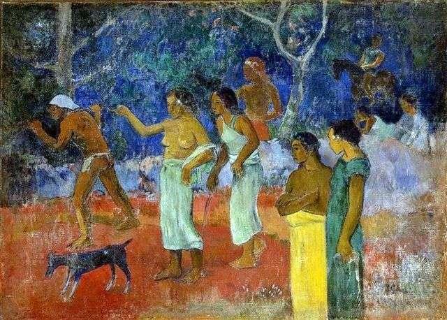 Scenes of Tahitian life by Paul Gauguin