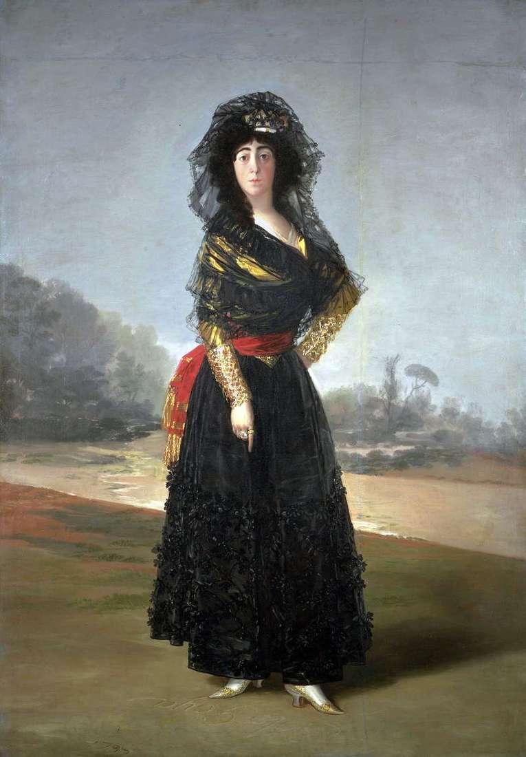 Duchess Alba in black by Francisco de Goya